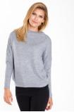 Szary sweter ze stójką