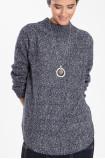 Ciepły sweter ze stójką