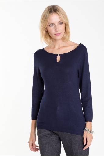 Sweter z motywem dekoracyjnym