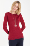 Sweter z połyskującą nitką