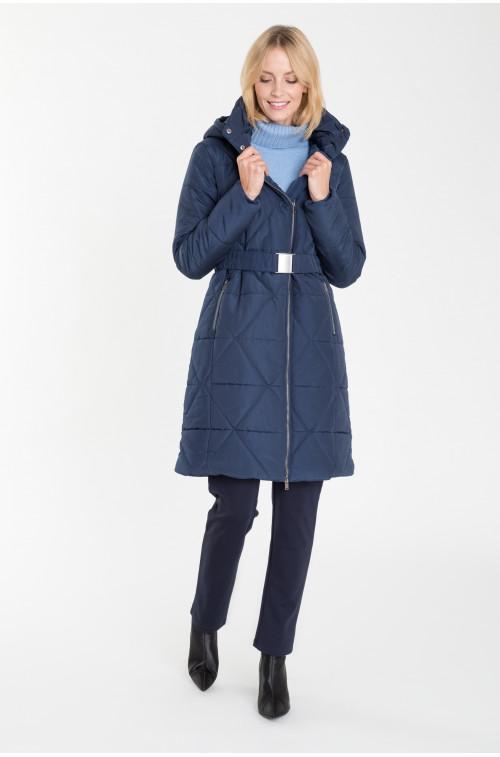 Pikowany, dopasowany płaszcz