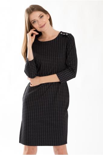 Dopasowana sukienka z motywem pepitki