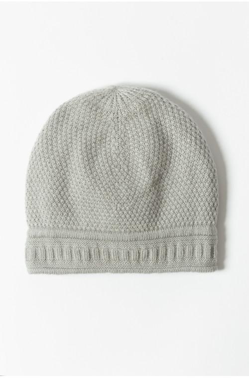 Miękka czapka z dodatkowym ociepleniem