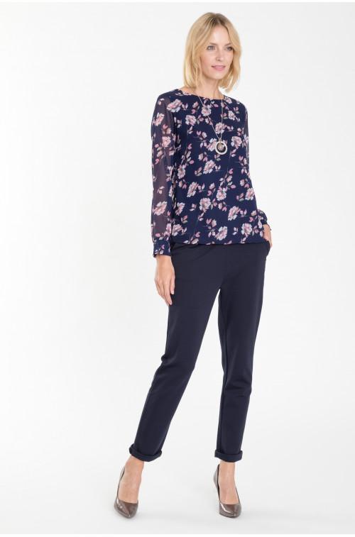 Elegancka bluzka z nadrukiem