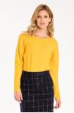 Luźny sweter z ozdobnymi ściągaczami
