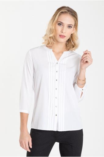 Elegancka bluzka z dekoracyjnymi zakładkami