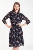 Elegancka sukienka z paskiem w talii