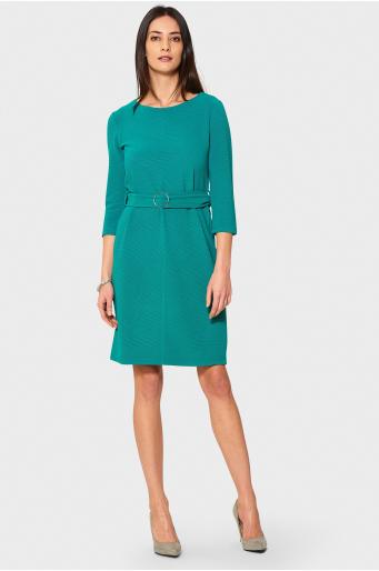 Zielona sukienka dzianinowa