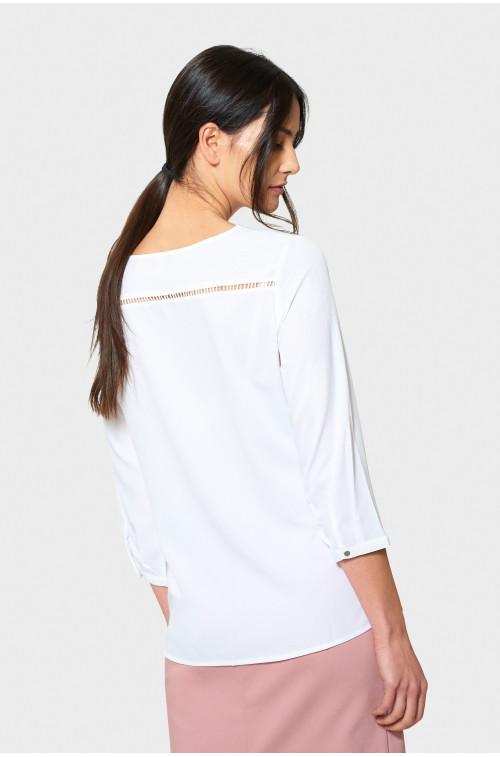 Biała elegancka bluzka z merażką