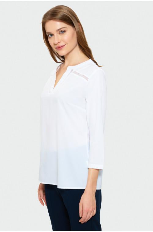 Biała bluzka z ozdobną merażką