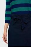 Granatowa spódnica z paskiem