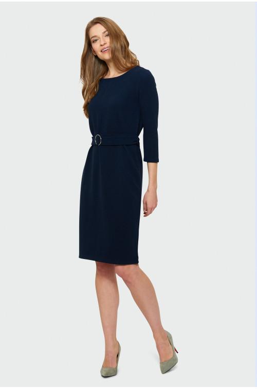Niebieska sukienka dzianinowa
