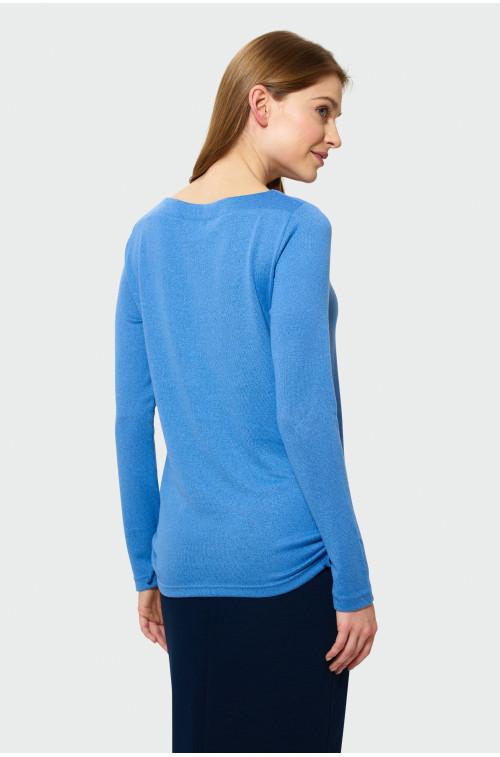 Klasyczny sweter z wiązaniem z boku