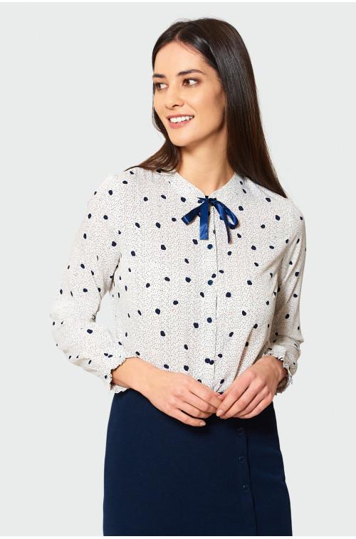 Elegancka koszula z wiązaniem