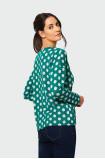 Lużny sweter z troczkiem