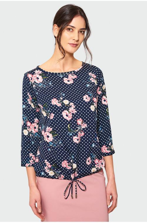 Elegancka bluzka z ozdobnym rozcięciem