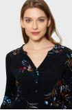 Wiskozowa bluzka z dekoltem polo