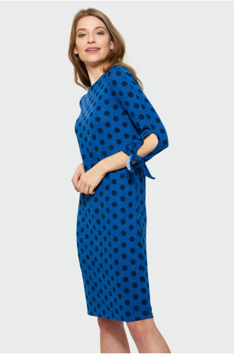 Sukienka z wiązaniem na rękawach