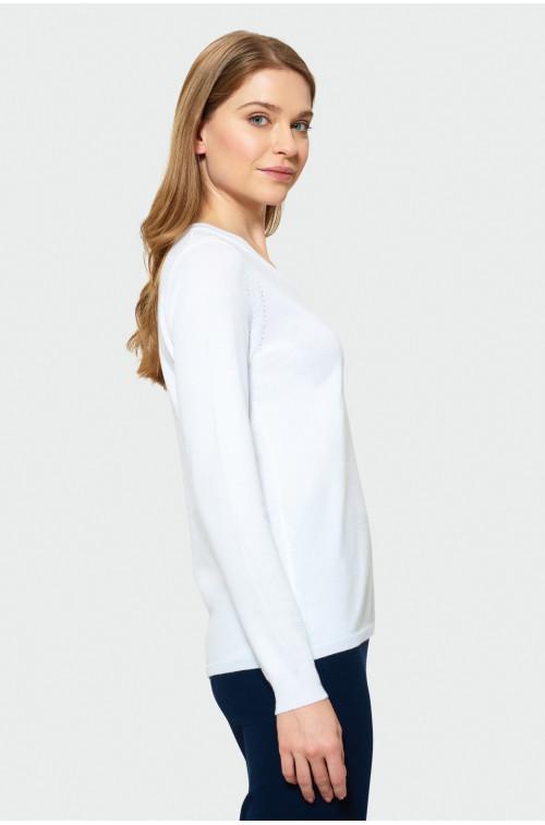 Klasyczny sweter z dekoltem w serek