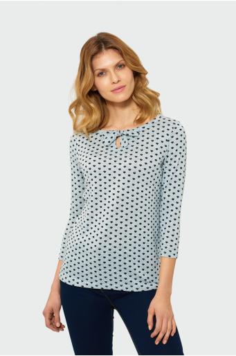 Klasyczny sweter z wiązaniem