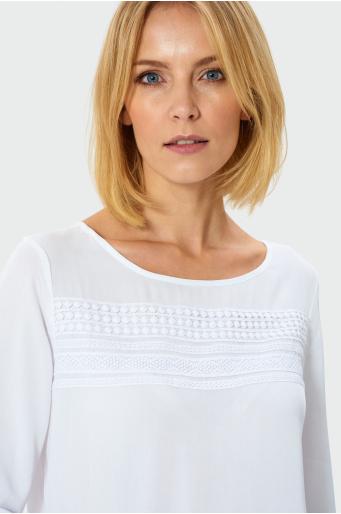 Wiskozowa bluzka z koronką