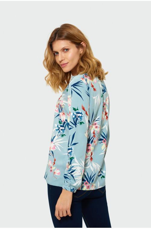 Wiskozowa bluzka z kwiatowym nadrukiem