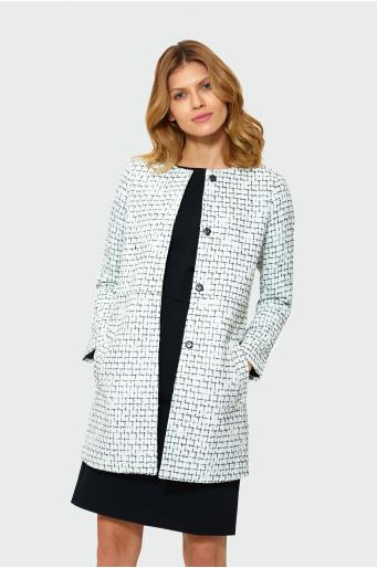 Elegancki płaszcz w kratę