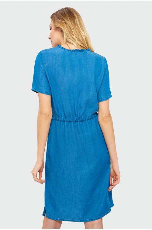 Sukienka z troczkiem w pasie