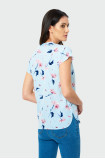 Luźna bluzka z nadrukiem