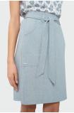 Szara spódnica z wiązaniem