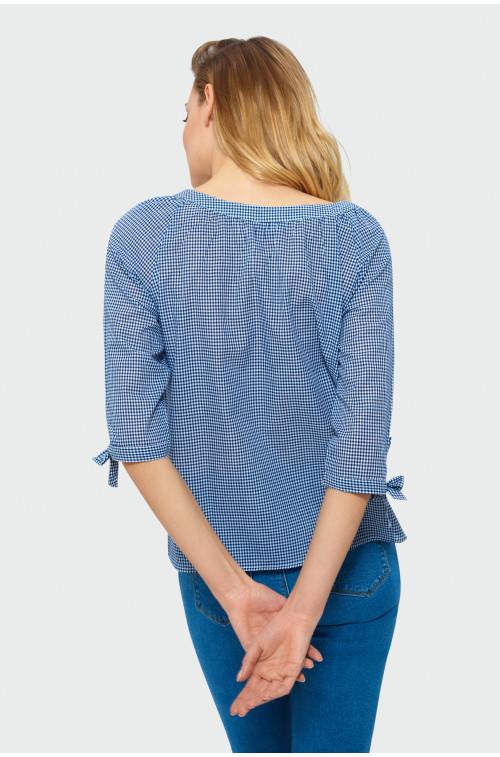 Bawełniana bluzka z wiązaniem na plecach