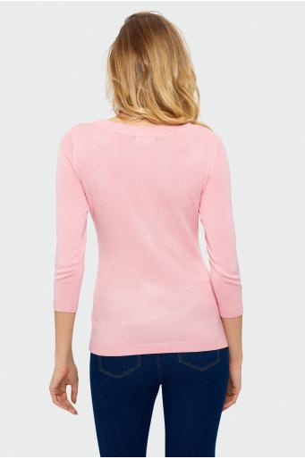 Sweterek z ozdobnym wiązaniem z przodu