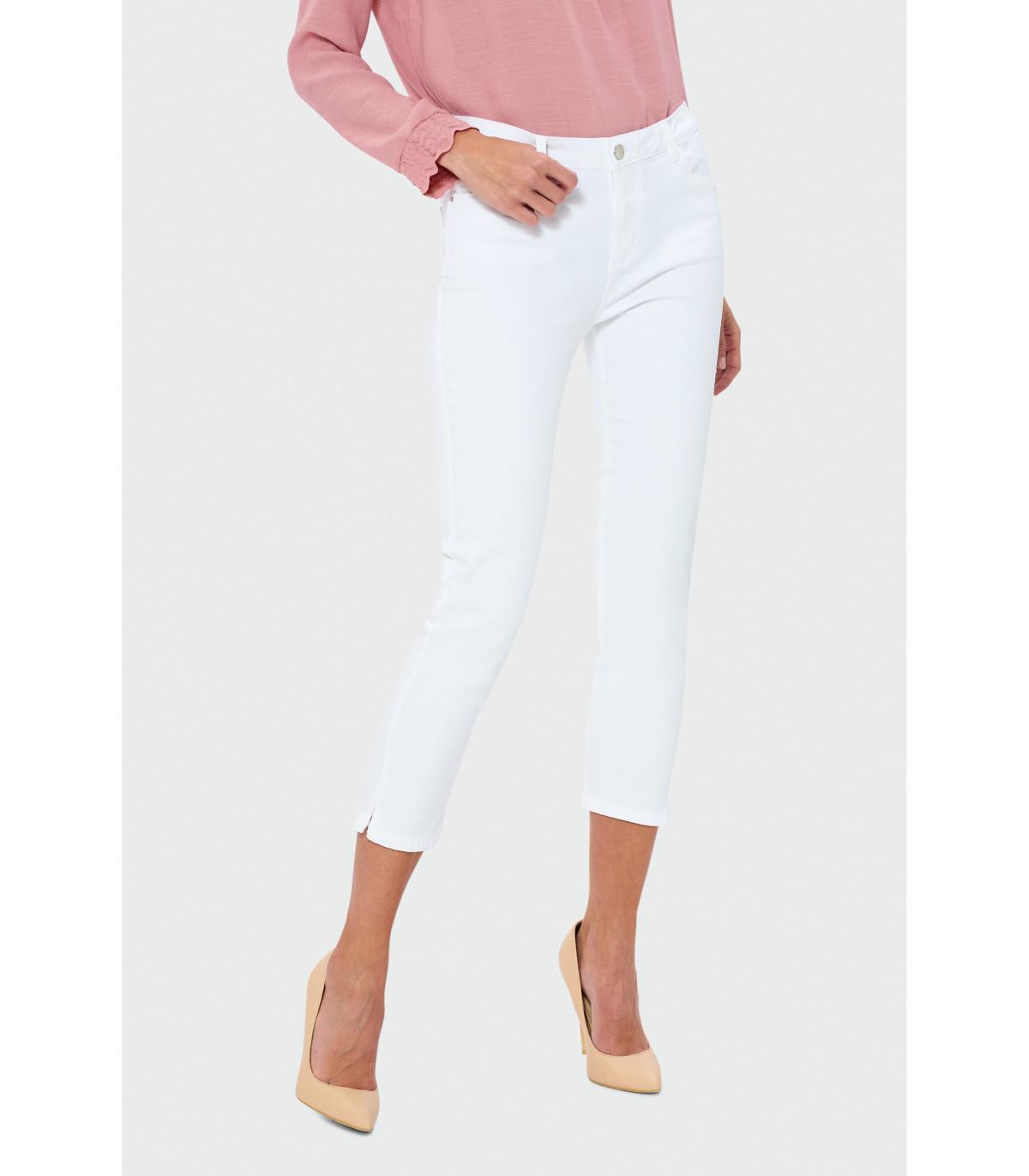 Modne ubrania Białe spodnie 7/8 Rozmiar 38 Kolor S19WHITE EI59