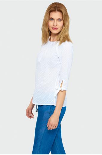 Bawełniana bluzka typu carmen