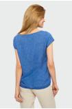 Wiskozowa bluzka z troczkiem