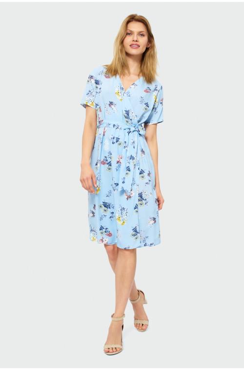 Sukienka z kopertowym dekoltem