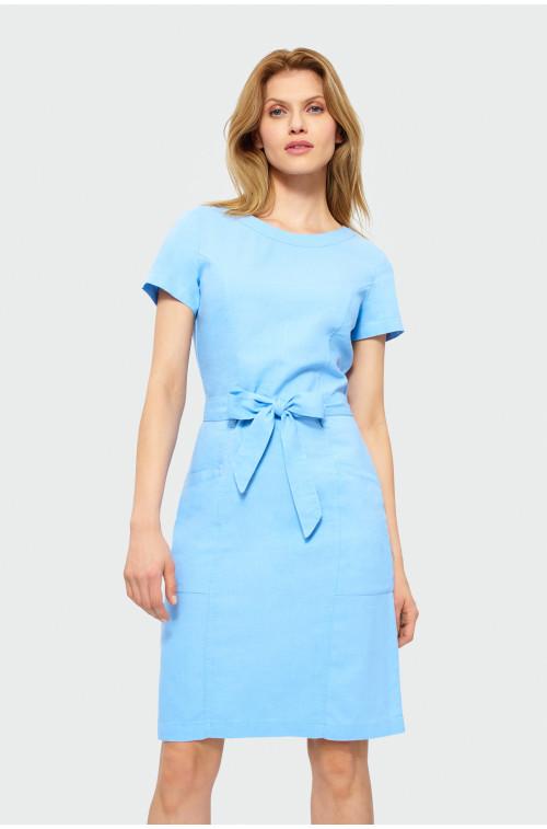 Sukienka z dodatkiem lnu