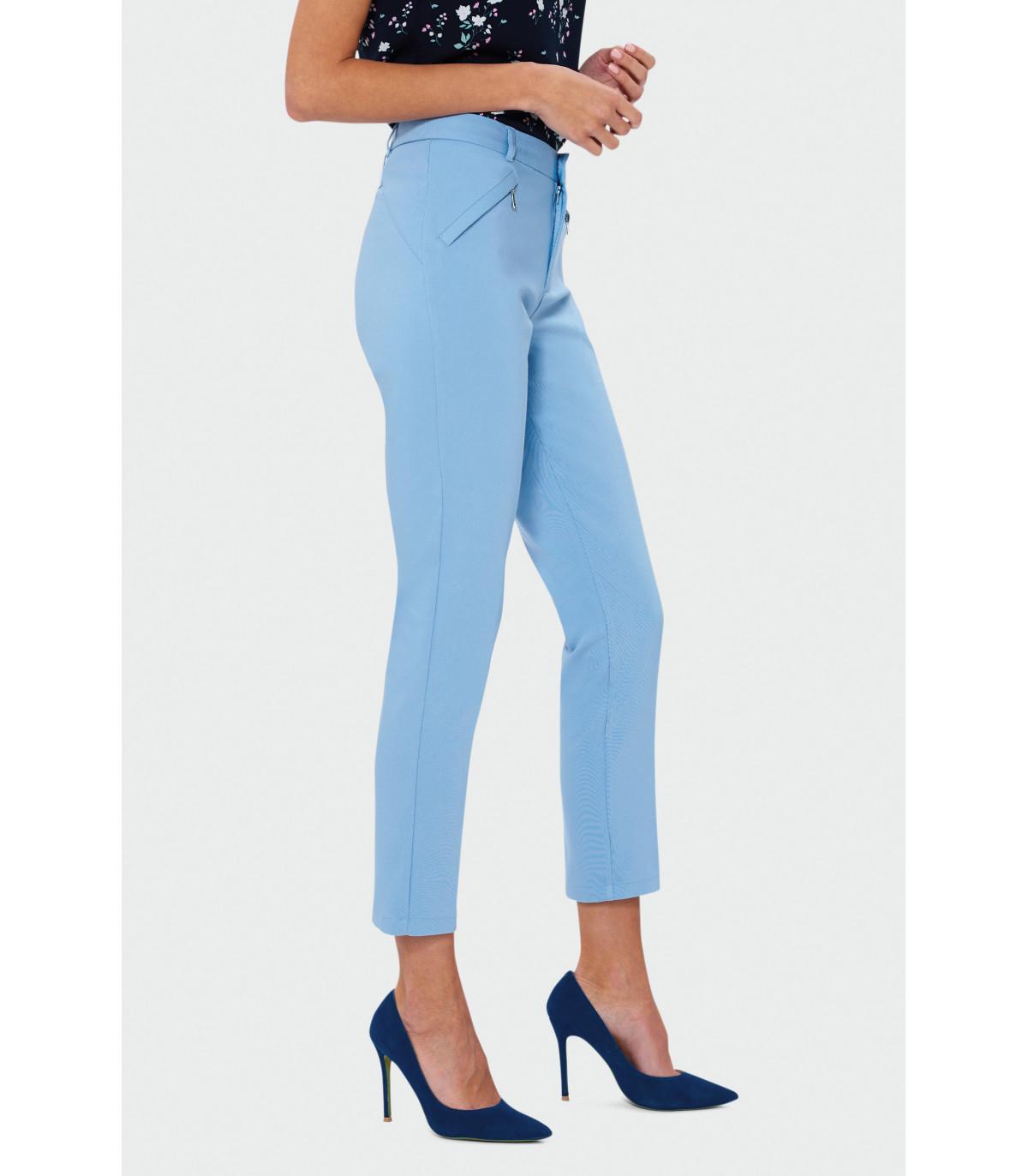 Modernistyczne Spodnie cygaretki Rozmiar 38 Kolor S19BLPAS QB61