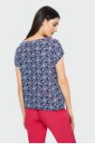 Wiskozowa bluzka w kwiaty