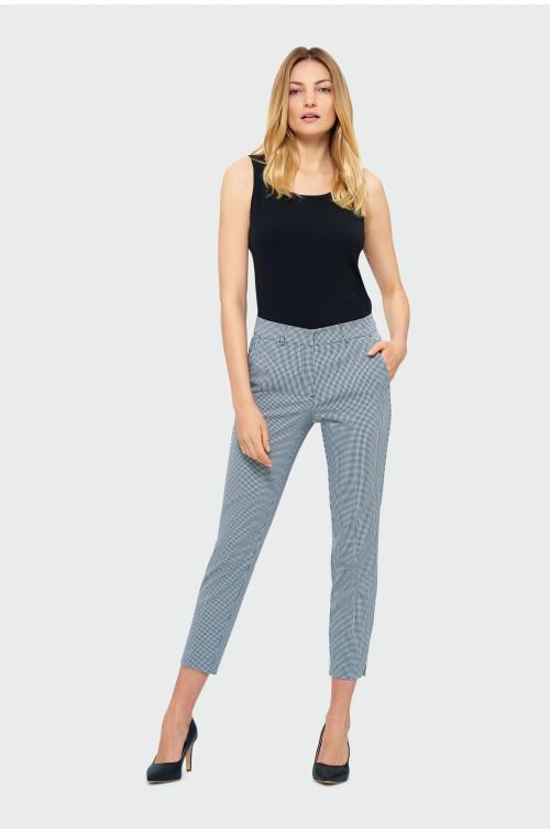 Eleganckie spodnie w kratę