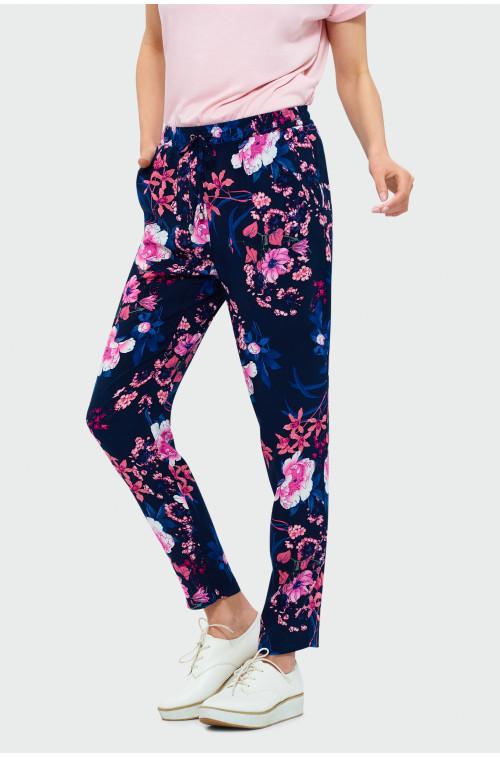 Wiskozowe spodnie w kwiaty
