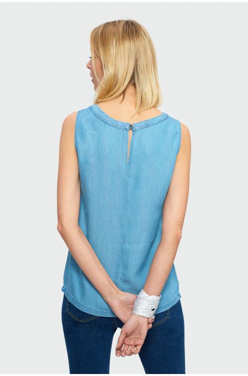 Wiskozowa bluzka bez rękawów