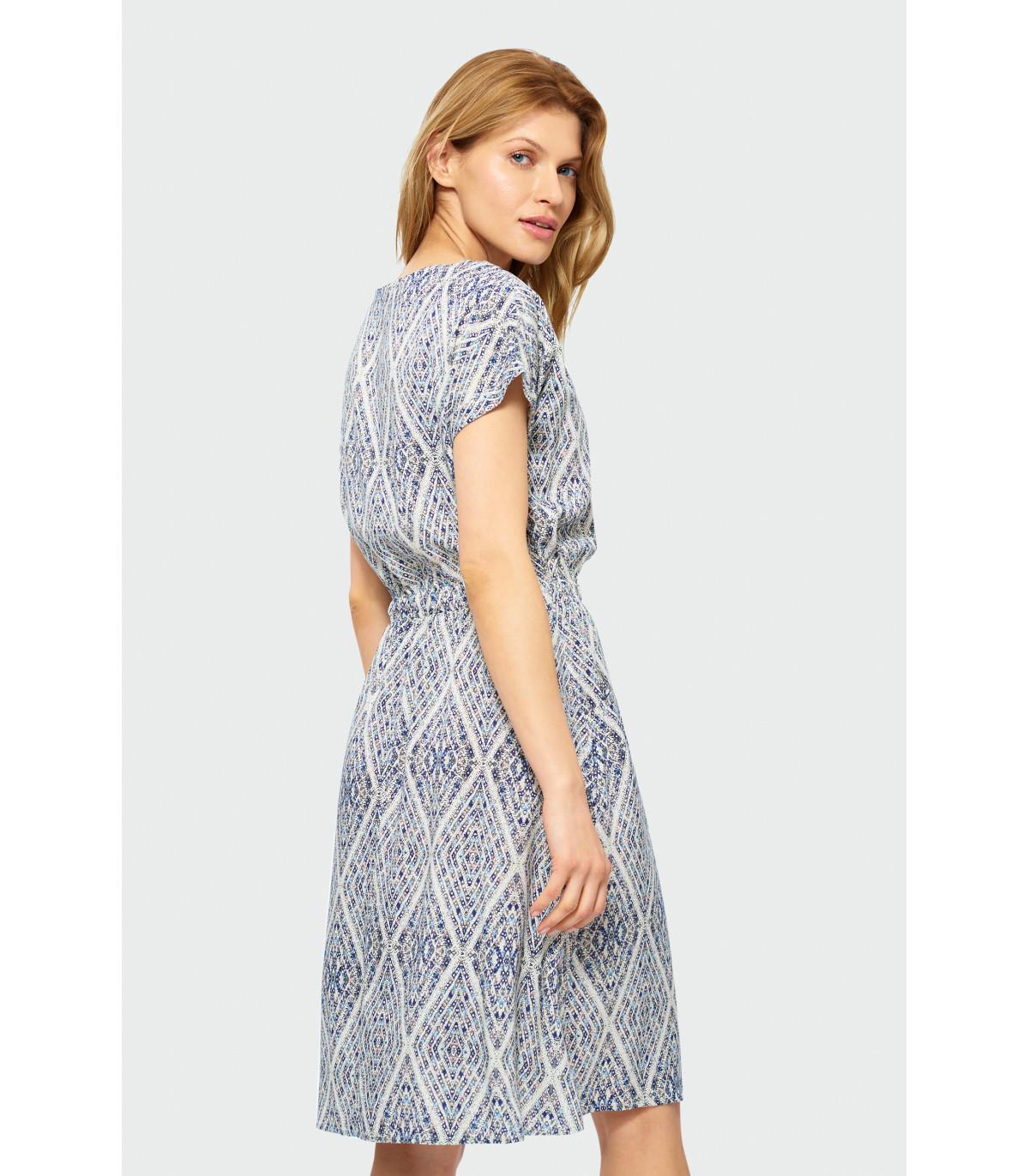 cf55b4203d Luźna sukienka we wzory Rozmiar 38 Kolor S19PRT27