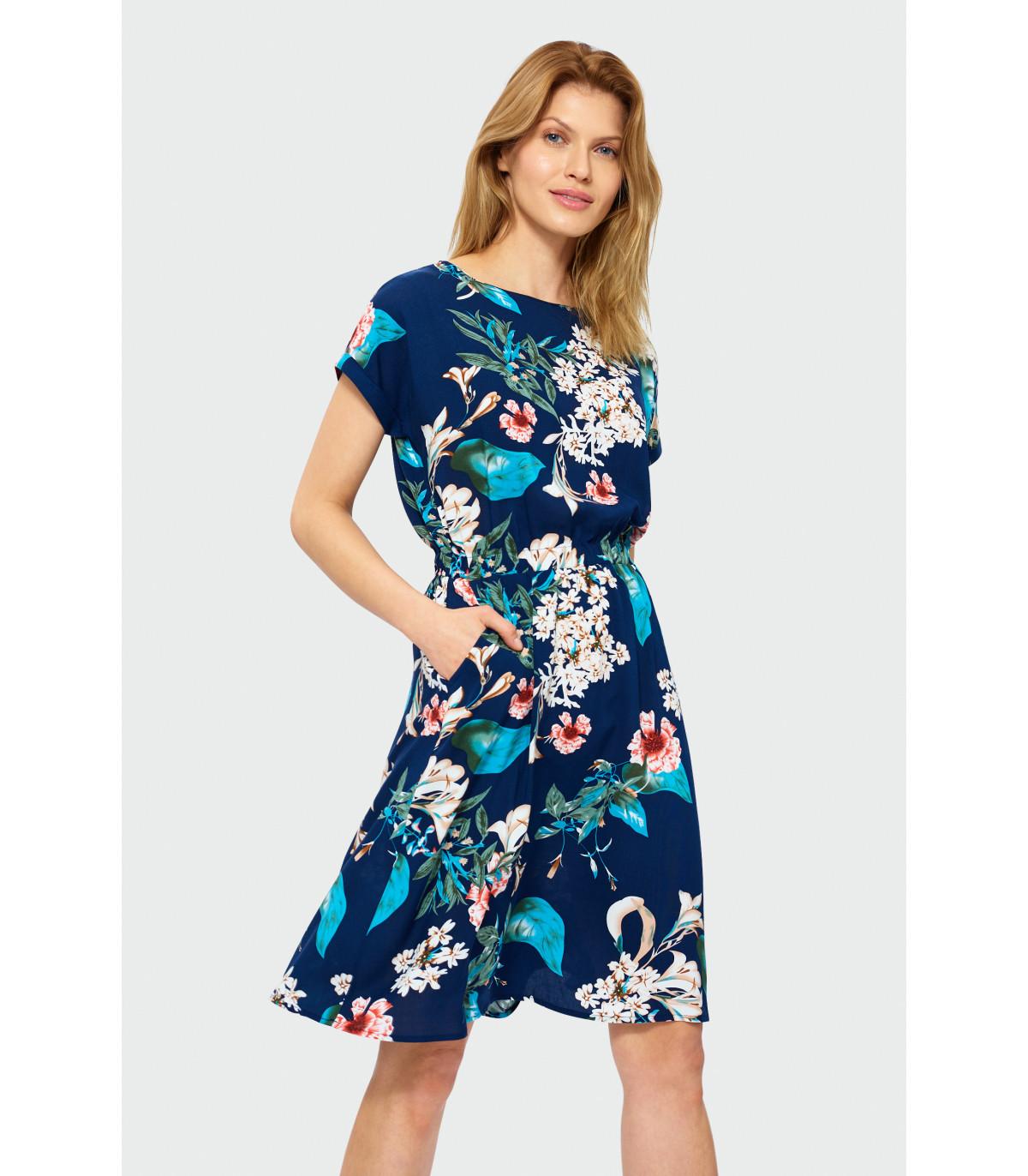 dc6711d06f Luźna sukienka w kwiaty Rozmiar 38 Kolor S19FLW80