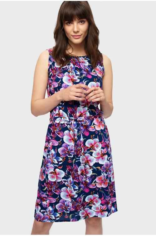 Wiskozowa sukienka bez rękawów