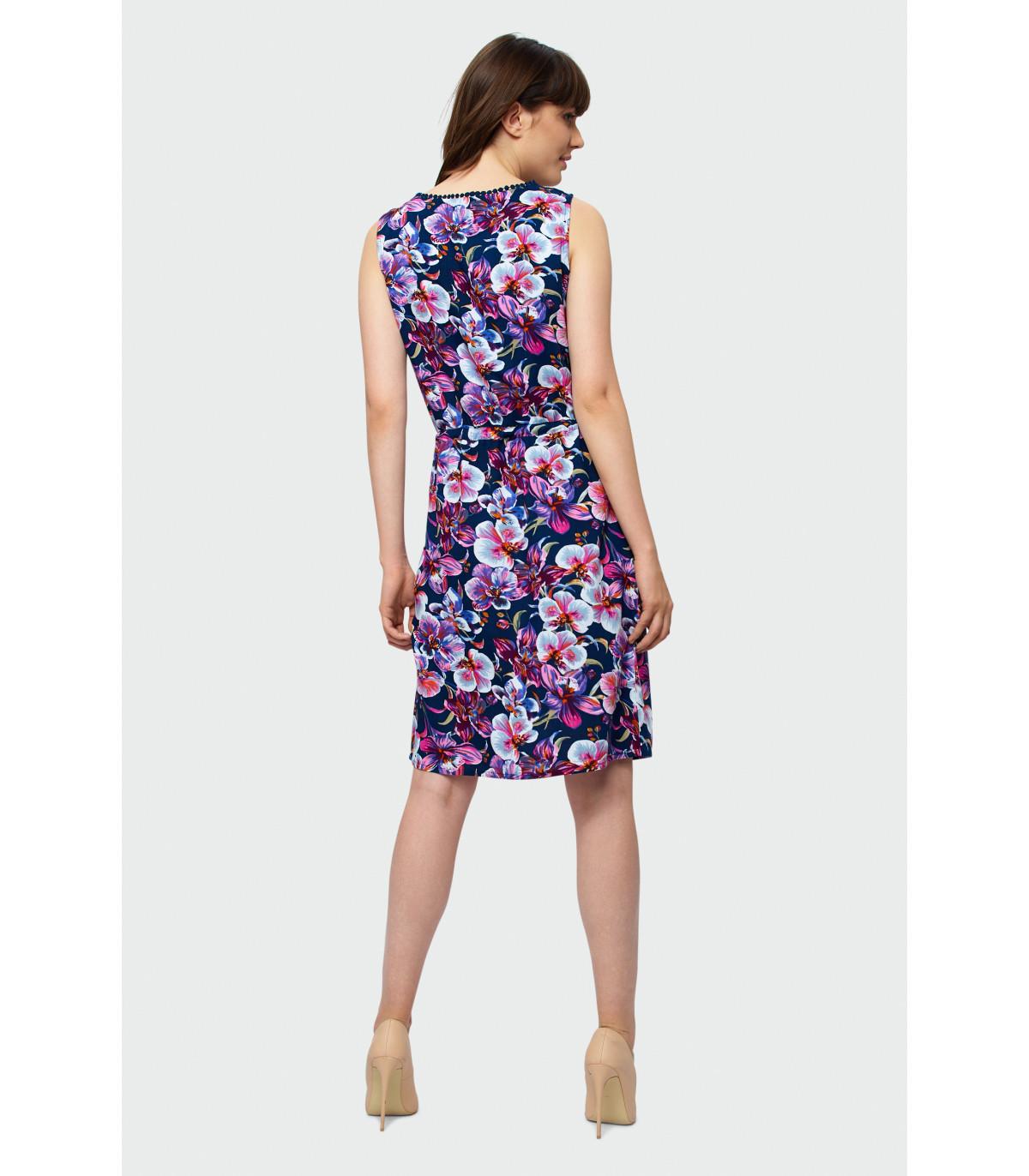 5a830a31dd Wiskozowa sukienka bez rękawów Rozmiar 38 Kolor S19FLW92