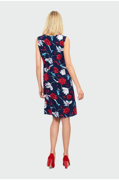 Trapezowa sukienka z wiskozy