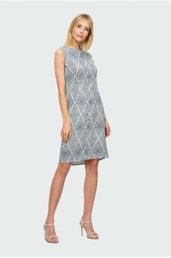 8a9e93e7 Trapezowa sukienka z wiskozy