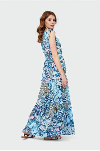 6066c8bd79 Długa sukienka z falbanami
