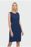 Ołówkowa sukienka w grochy